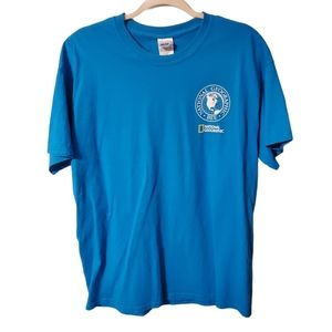 National Geographic 2015 Geo Bee t shirt, size L